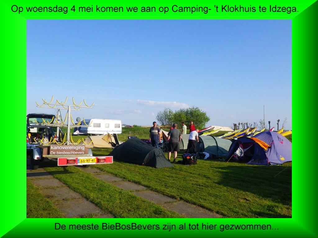 001-Woensdag 4 mei. Aankomst op Camping- 't Klokhuis te Idzega.
