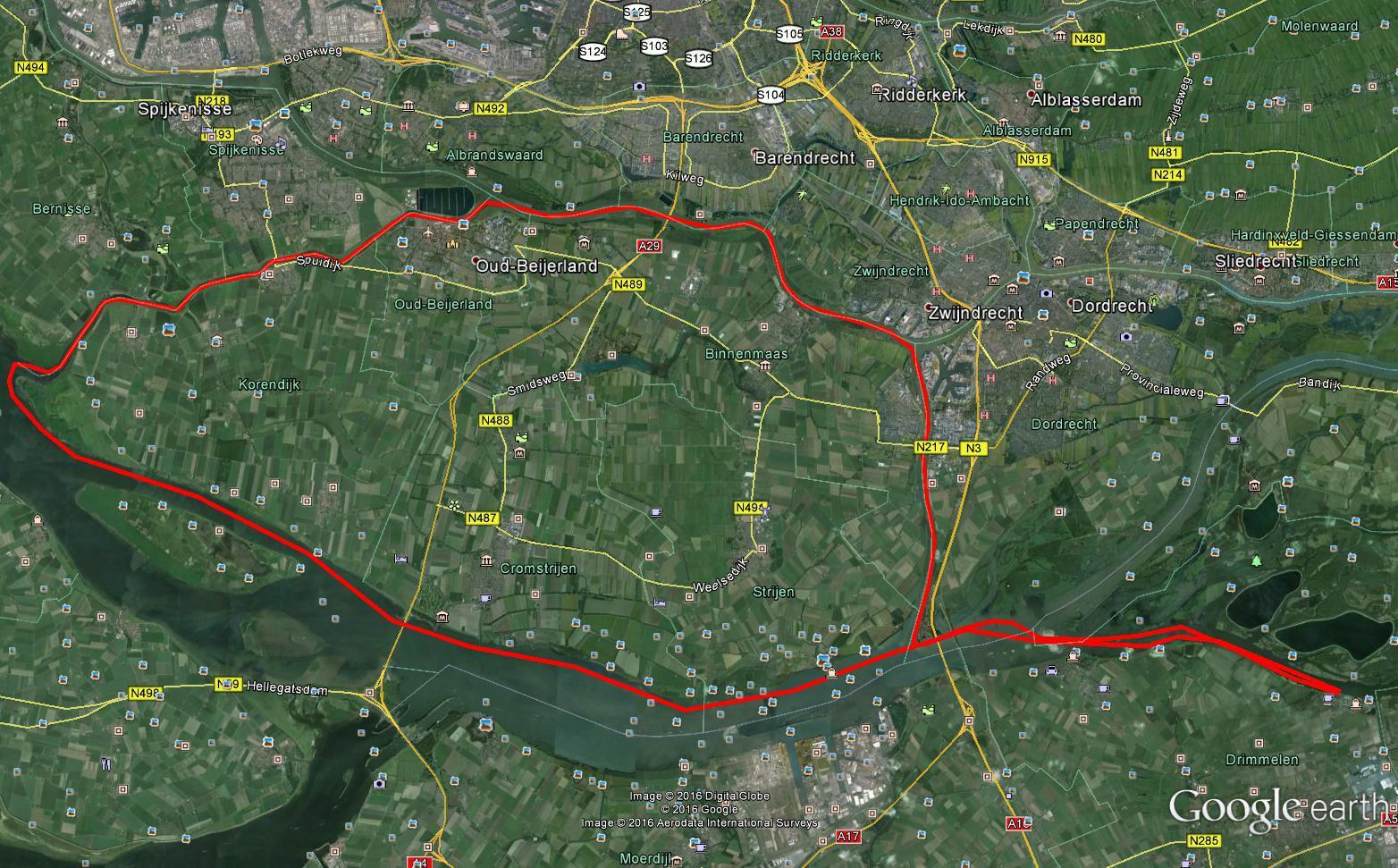 Afstand: 100,0 km Vaartijd: 12u 12 min  Gemiddelde snelheid:  8,2 km/u